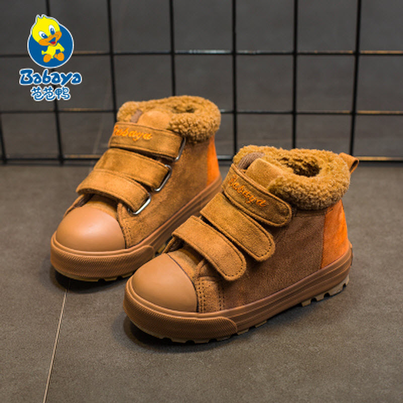 2017 brand Babaya new Winter fashion casual high top student sport school sneaker children ankle girl snow boots kids boys shoes kelme 2016 new children sport running shoes football boots synthetic leather broken nail kids skid wearable shoes breathable 49