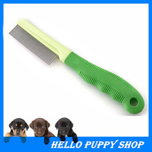 Pet Grooming Soft Plastic Handle Brush Hair Comb For Dogs