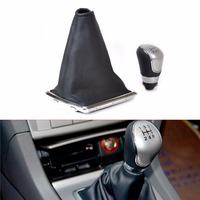 DWCX For FORD FOCUS 2005 2006 2007 2008 2010 2011 2012 5 Speed Gear Shift Knob Collar Premium Leatherette Gaitor Boot Cover