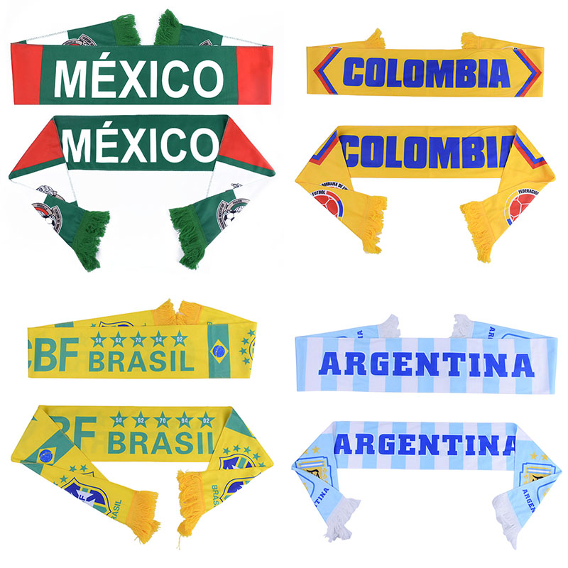 Summer football fans Scarf Soccer Fan Scarf countries team Scarf 32 teams Mexico flag banner