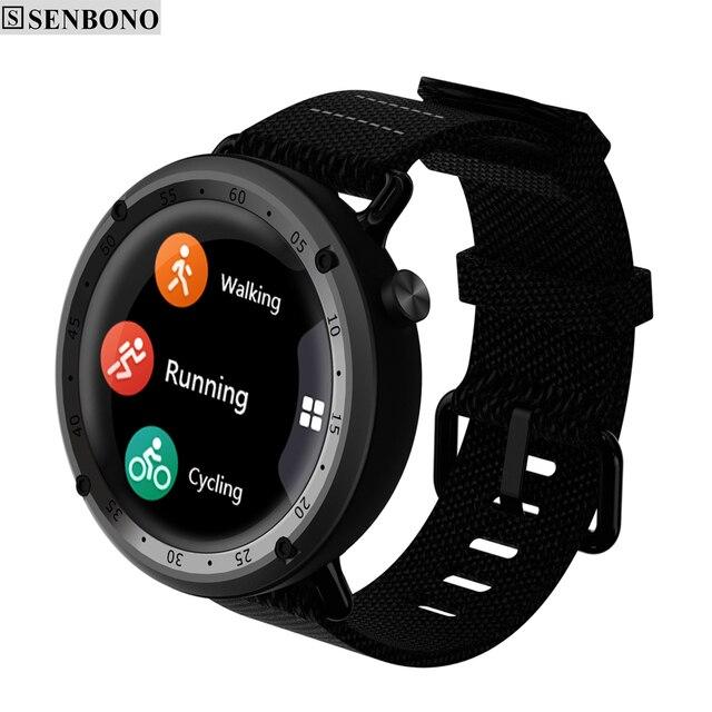 SENBONO L19 GPS Sport smart watch support fitness tracker Compass Height heart rate IP67 waterproof SMS Pushing