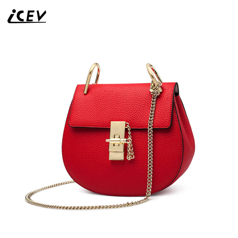 ICEV New Fashion Cowhide High Quality Women Messenger Bags Handbags Women Famous Brands Genuine Leather Bags Chains Shoulder Bag qiwang 2016 new quality genuine leather women messenger bag famous brands fashion rivet women shoulder handbags messenger bag