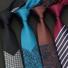 GUSLESON мужские Узкие галстуки Роскошные Цветочные Галстуки в клетку Hombre 6 см Gravata тонкий галстук в горошек Классический деловой Свадебный галстук для мужчин