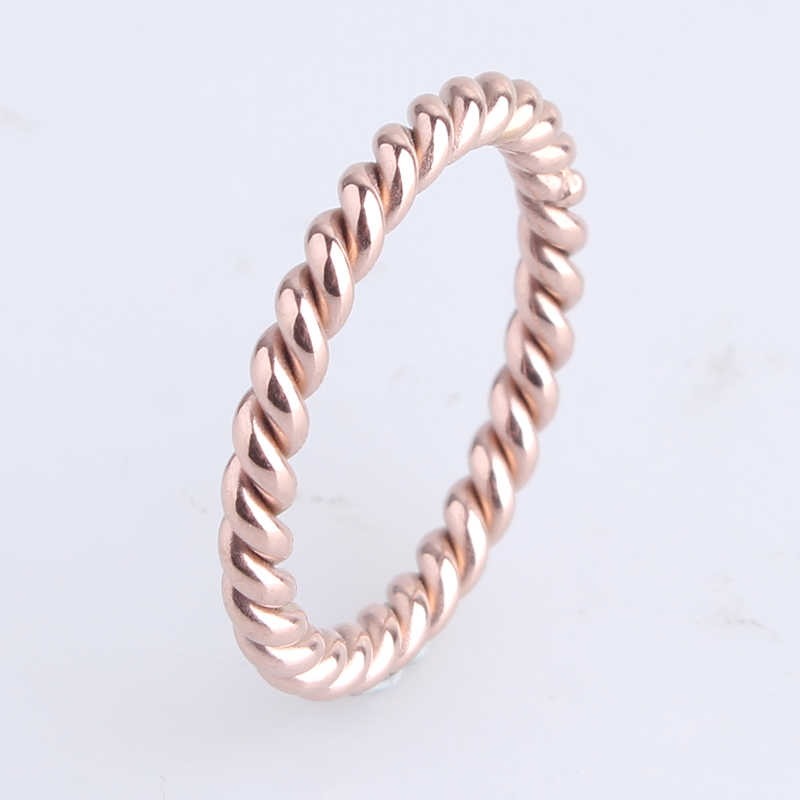 d7b3d43e1 free shipping Rose Gold Hemp flowers 316L Stainless Steel finger rings for  women wholesale