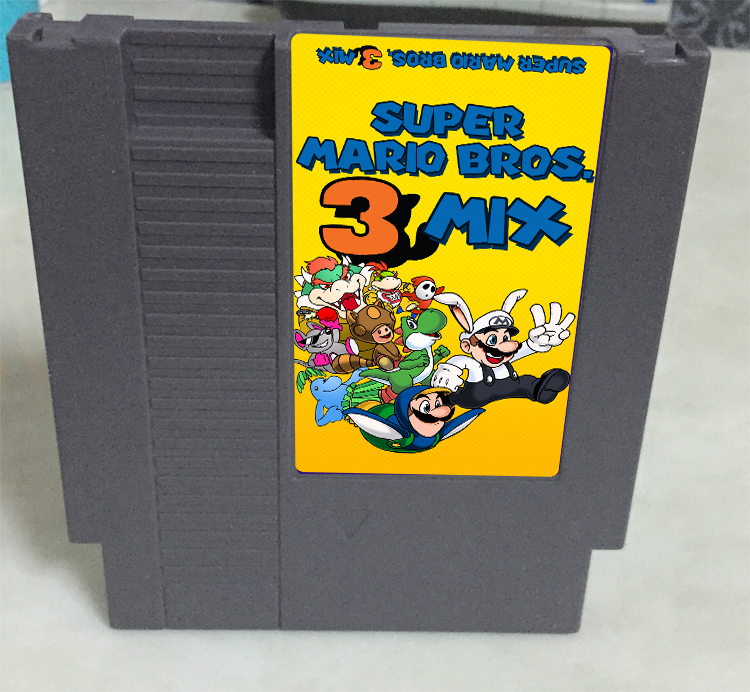 New arrival 72 pins 8 bit game cartridge free shipping — Super Bros.3 Mix