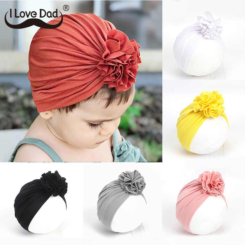 Flower Baby Hat Beanie Cap Autumn Winter Kids Baby Girl Hat Cotton Infant Toddler Children Bonnet Cap Girls Hat Casquette Enfant