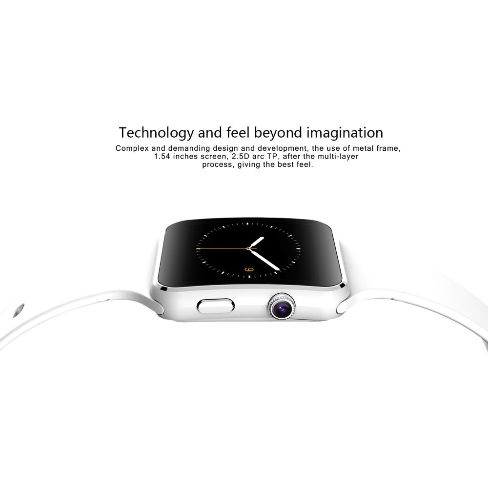 Smart watch touch screen X6 compatible with SIM card TF for IPhone Xiaomi Android IOS Screen