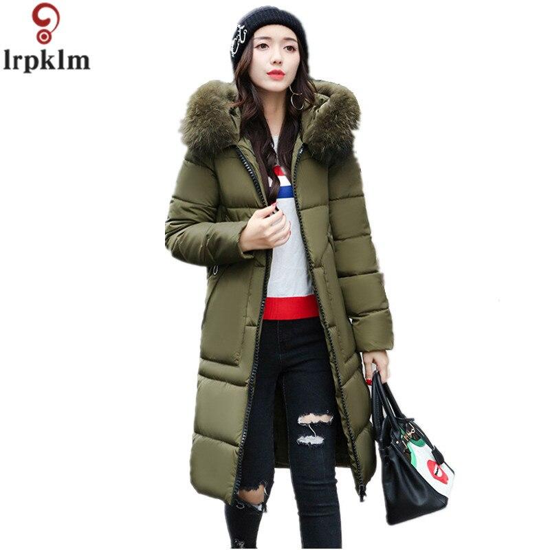 Fashion Ladies Coats 2017 Winter Coat Women Parka Long Thick Warm Cotton Jacket Women Jackets And Coats M-XXXL LZ266