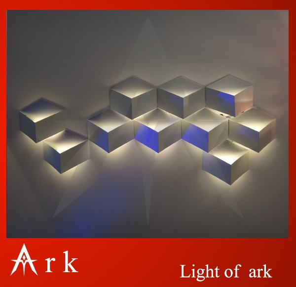New Modern Cube Honeycomb 1W LED Indoor wall lamp Warm White Wall Sconces Light Hall Porch Bar Decoratiive Lamp 85V-265V