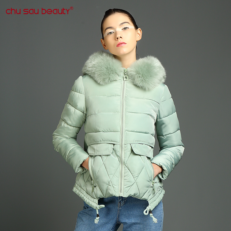 CHUSAUBEAUTY  Winter Jackets And Coats New Parkas Female Jacket Coat Thickening Cotton Warm Outwear winter clothing for women children winter coats jacket baby boys warm outerwear thickening outdoors kids snow proof coat parkas cotton padded clothes