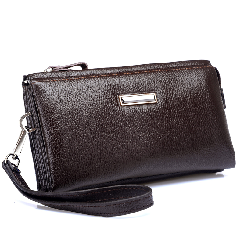 a62d9a8e2 2013 New Style Genuine Leather Men Day Clutches Bag Fashion Wallets Purse  For Men Free Shipping-in Men's Costumes from Novelty & Special Use on ...