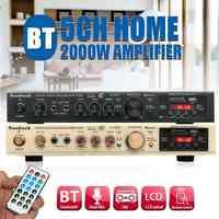 298B bluetooth 2.0 canaux 2000W 5 canaux amplificateur de puissance Audio 220V AV Amp haut-parleur avec prise en charge à distance cartes FM USB SD
