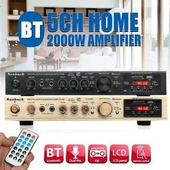 298B bluetooth 2 0 kanał 2000W 5 kanał moc dźwięku wzmacniacz 220V AV wzmacniacz głośnik z pilot zdalnego sterowania obsługuje FM USB karty SD tanie i dobre opinie CLAITE Powyżej 200 W OTHER 2 (2 0) 220V-240V 50Hz 0Hz-20KHz(+ -10dB) 150mV 10dB at 10KHz 8dB at 1kHz 10db at 100Hz 0-10dB