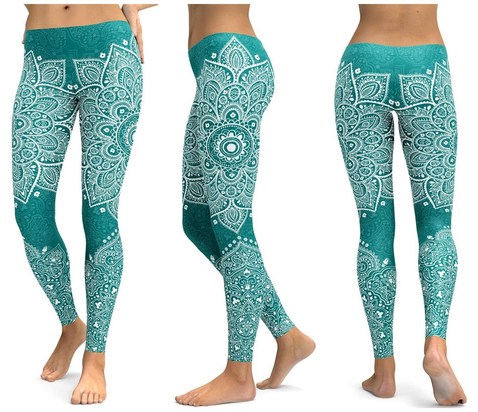 Print Yoga Pants Women Unique Fitness Leggings Workout Sports Running Leggings Sexy Push Up Gym Wear Elastic Slim Pants 17