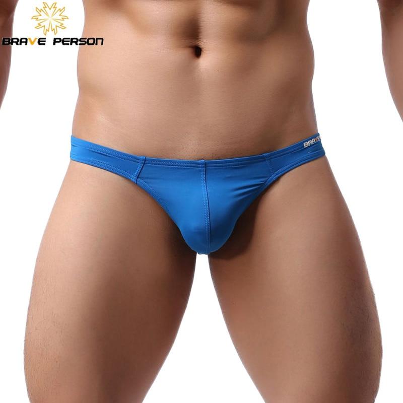 Genuine Brand BRAVE PERSON Sexy Underwear Men's Thongs G-Strings Men Nylon Fashion Jockstrap Mini Briefs Bikini T-back Shorts