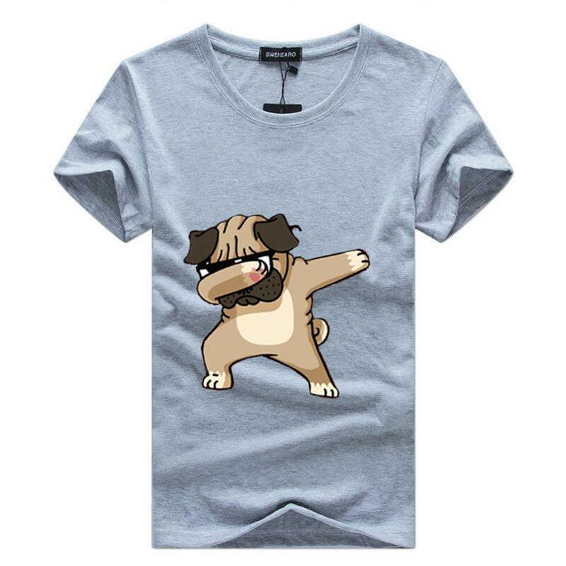 71db7de3 ... SWENEARO Men's T-shirts Fashion Animal Dog Print Hipster Funny t shirt  Men Summer Casual ...