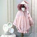 2016 autumn winter hooded Single-breasted trench coats for girls outerwear 2-8years kids clothes children clothing outfits