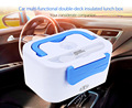12V Portable Car Plug Heated Lunch Box Compact Electric Lunch Food Warmer Box Bento Food Container  1200ML