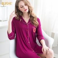 2016 New Autumn Style Women Sleepwear Cotton Print Sexy Sleeping Dress Nightgown For Ladies Women's Home Clothes Sleepwear