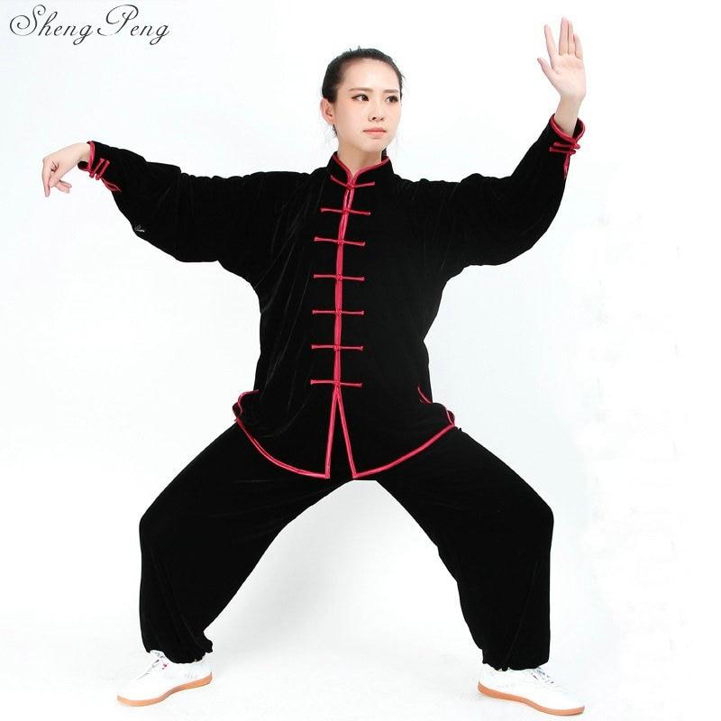 New Design Woman Short Long Sleeved Wushu TaiChi KungFu Uniform Female Suit Uniforms Tai Chi Exercise