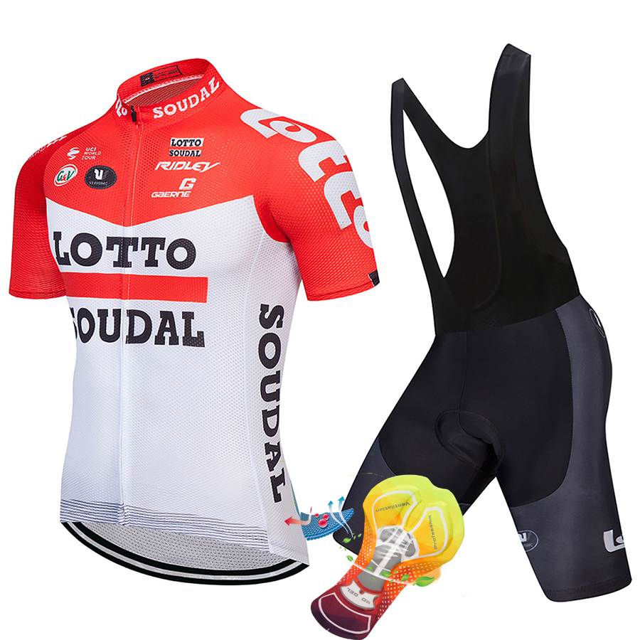 LOTTO 2018 Cycling Jersey Set Short Sleeve Summer MTB Cycling Clothing Pro Team Ropa Ciclismo Cycling Jersey And Shorts Gel Pad 2018 pro team uae cycling jersey set new bicycle maillot mtb racing ropa ciclismo short sleeve summer bike clothing gel pad