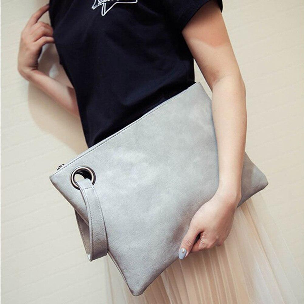 Clutch Bag Female Handbag Clutch Fashion Solid Shoulder Bag Artificial Leather Women Bag Women Envelope Bag Solid Women`s