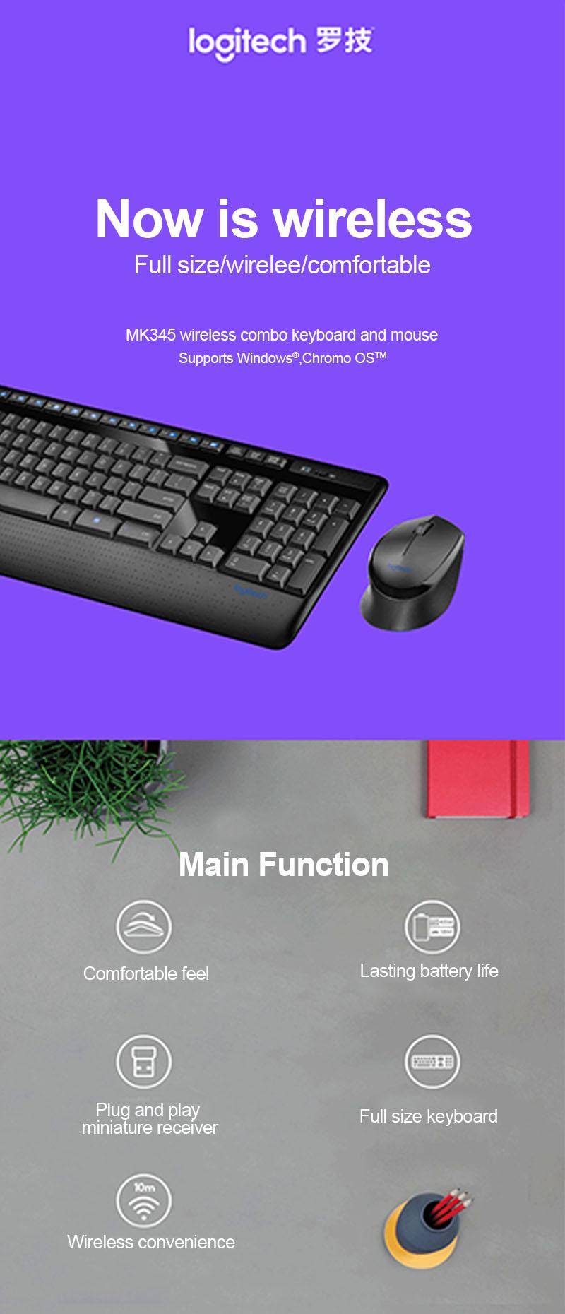 Logitech Wireless Combo Mk345 Mit Tastatur In Voller Gre Und Mk220 Keyboard Mouse Original