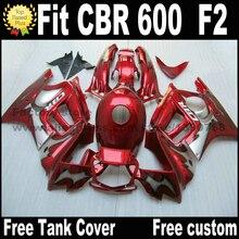 Обтекателя боди-кит для HONDA 91 92 93 94 CBR 600 красный черный пластик обтекатели установить CBR600 F2 1991 1992 1993 1994 AS45