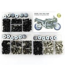 Kit completo de tornillos de carenado para motocicleta Suzuki Kit completo de tornillos de carenado para carrocería de acero, Tuercas de velocidad, para Suzuki GSXR 1100 GSXR1100