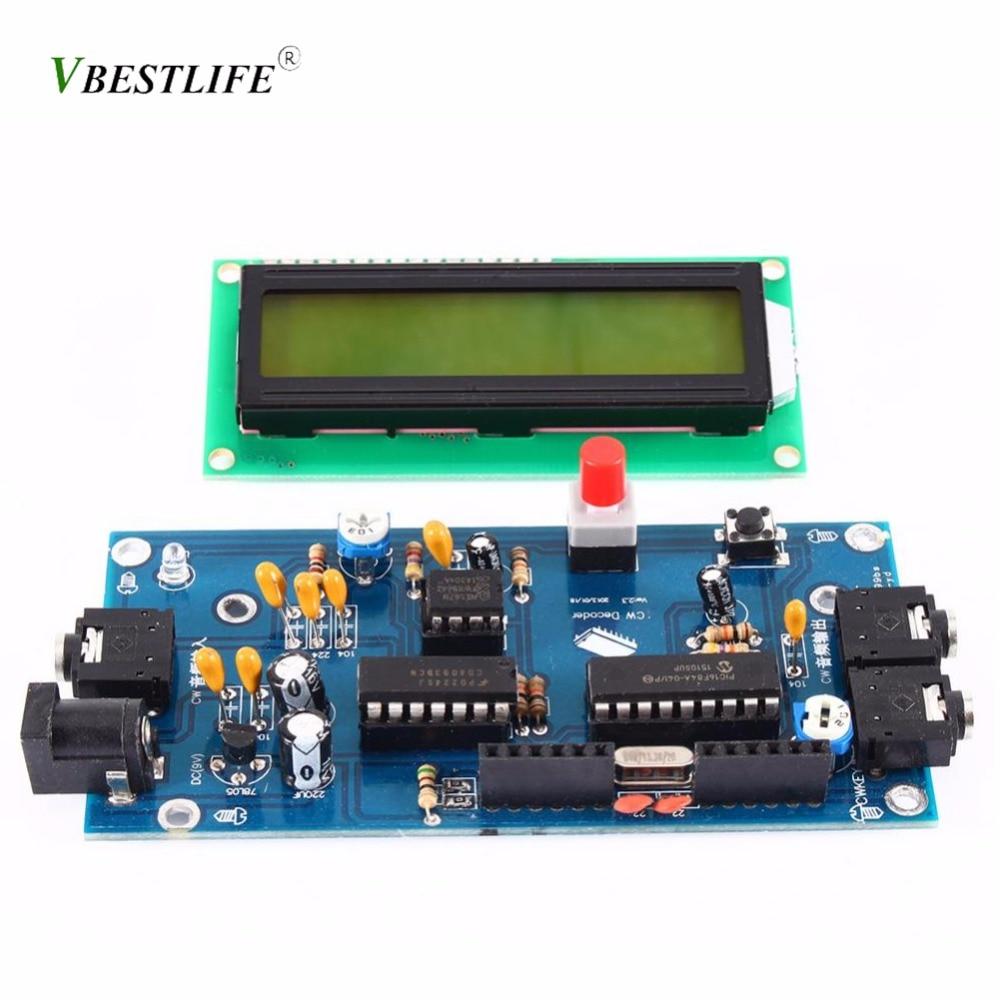 Einfach Ham Radio Ätherisches Cw Decoder Morse Code Reader Morse Code Übersetzer Ham Radio Zubehör Dc7-12v/500ma Lcd Display Tragbares Audio & Video Unterhaltungselektronik