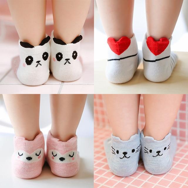 3pair 1 3 5 Years Old Christmas Korean Short Sock Animal Baby Girl Cartoon