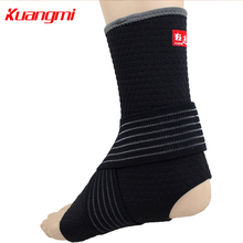 Kuangmi 2pcs Adjustable Ankle Brace Immobilize Ankle Support Ankle Joint Guard Protector Sprain Pain Relief Football Basketball 1pcs ankle support brace stirrup sprain stabilizer guard ankle sprain aluminum splint