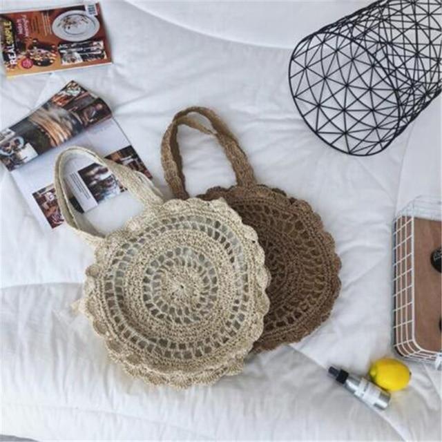 Summer Rattan Handmade Knitted Travel Shoulder Bags 2