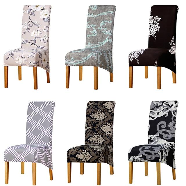Lellen XL גודל כיסוי כיסא אלסטי כיסא מכסה למתוח מושב גבוהה חזרה מלך ארוך בחזרה לאירועים בית מלון אוכל חג המולד