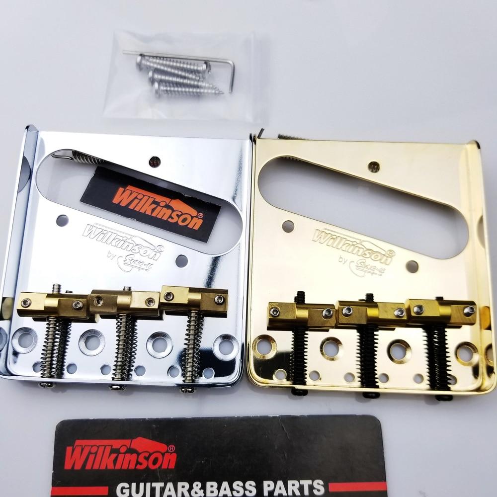 WTB Wilkinson Vintage Estilo TL Tele Telecaster Guitarra Elétrica Ponte Fixa Com Selas De Bronze de prata ponte Ouro