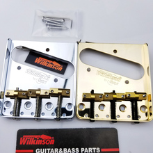 Wilkinson WTB Vintage Style Fixed Tele Telecaster Electric Guitar Bridge With Brass Saddles TL bridge silver Gold