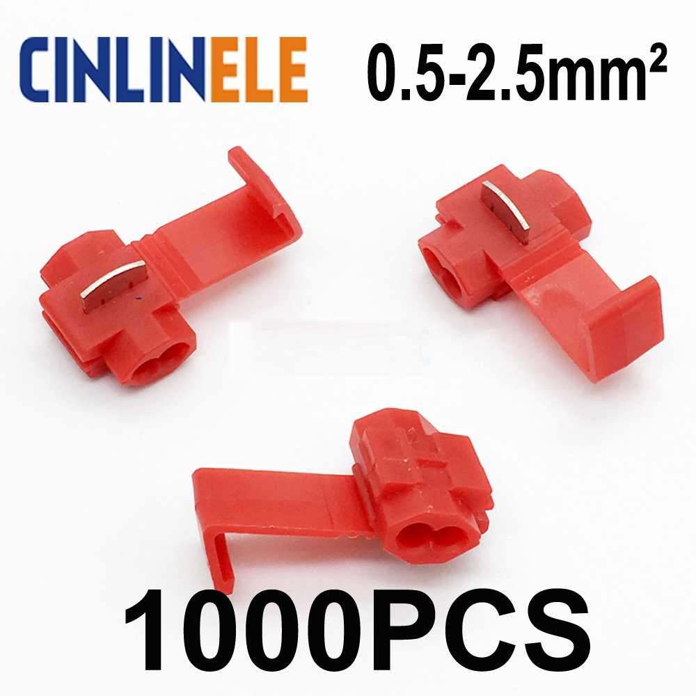 цена на IMC 1000pcs/lot 801P3 Red Scotch Lock Quick Splice Wire Connector 22-18 AWG Hard Soft 0.5-1mm^2 Crimp Terminal