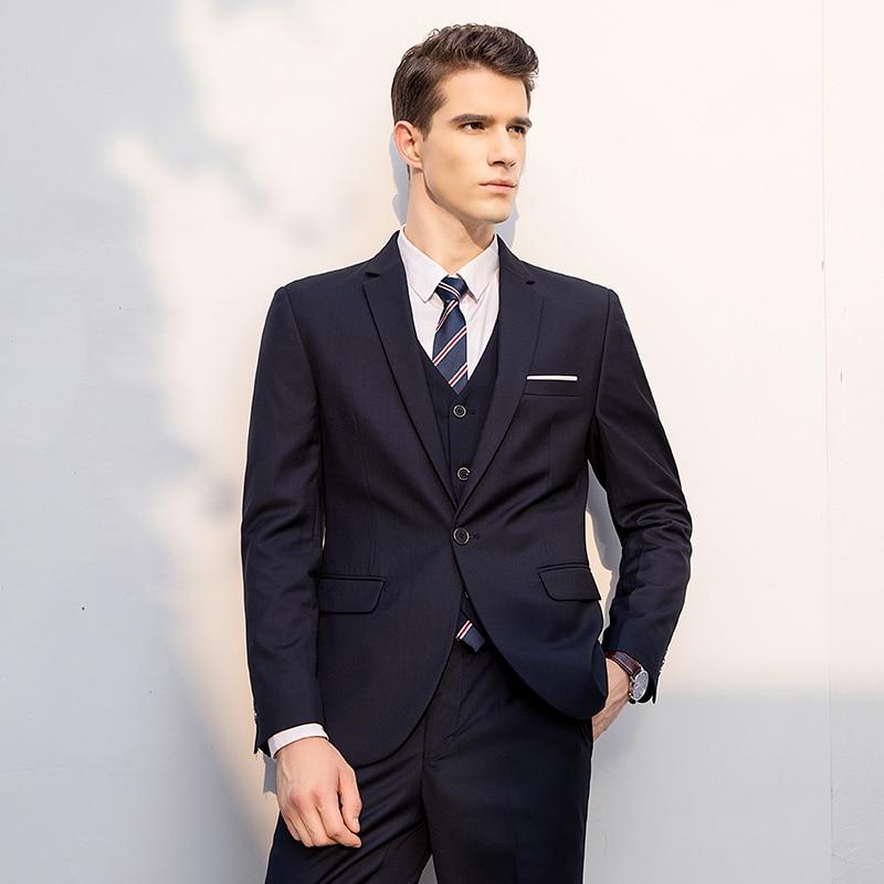 Top 2018 M bleu Hommes Bleu bourgogne 5xl marine Nouveaux Classique veste Slim Formelle Noir Gilet Travail D'affaires Qualité Pantalon Costumes Fit De XxpZO