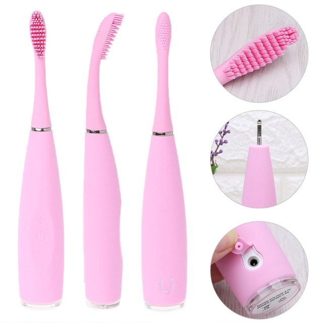 USB Rechargeable Sonic Silicone Electric Toothbrush