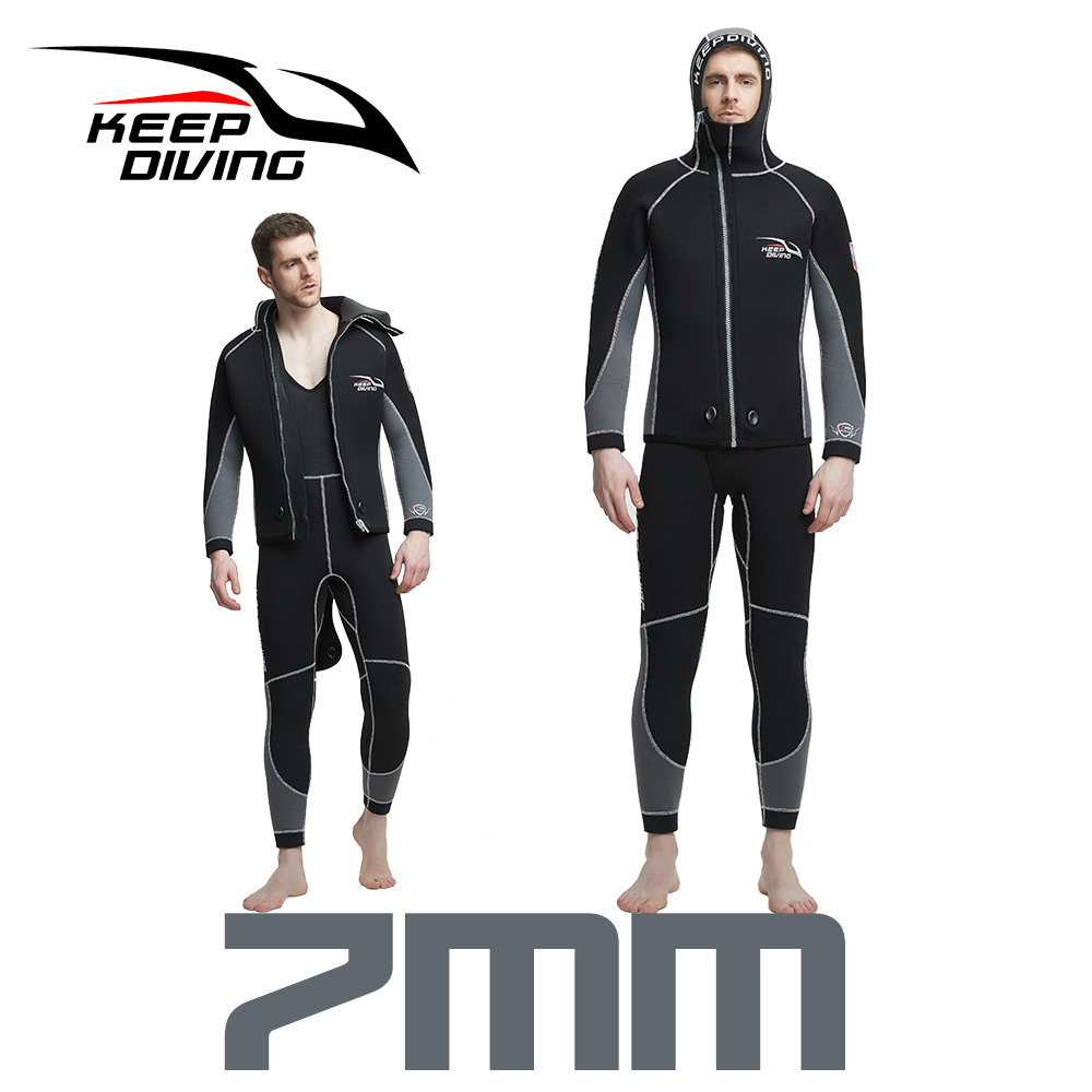 KEEP DIVING 7MM Mens Wetsuit New Arrival One piece Diving Wet suit Winter Warm Neoprene Diving