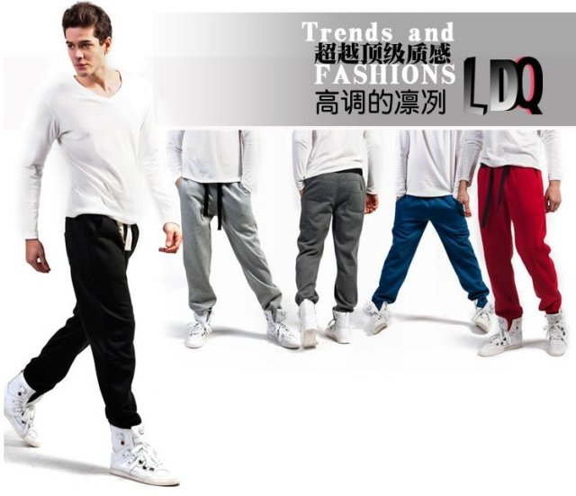 PROMOTION winter/ spring TOP Brand ( LDQ )Men's pants /sportswear casual/ active loose pants  boys' trousers 100% cotton