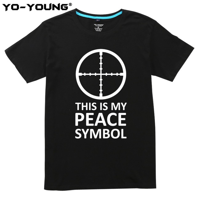 Men Funny T Shirts Pubg My Peace Symbol Letters Printed 100 180g Combed Cotton Summer Men Casual T Shirts Customized In T Shirts From Mens Clothing