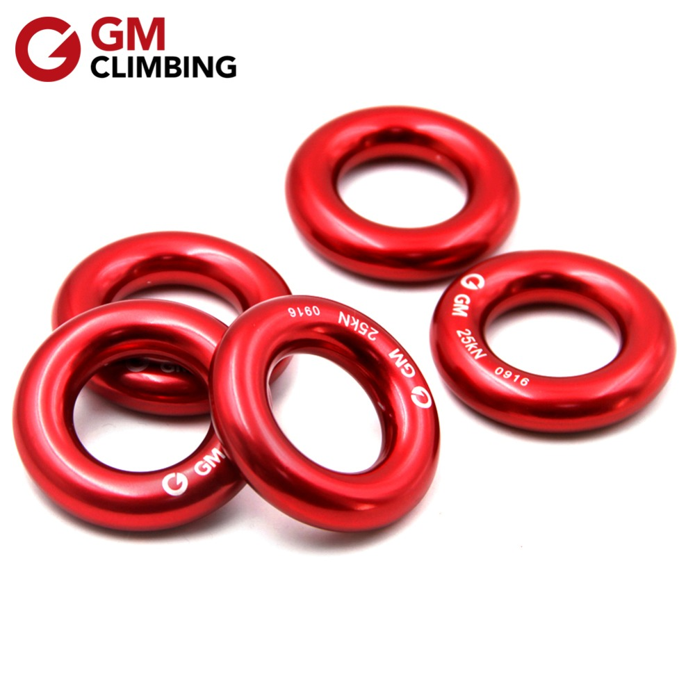 GM CLIMBING Rappel Ring Pengaturan Hammock 25kN Descending Ring untuk Rock Climbing Backpacking Arborist Rescue