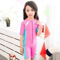 Çocuk Mayo Kızlar Profesyonel Tek Parça Mayo Bebek Kız Erkek Mayo Küçük Kız Yüzme Suit Banyo HW315