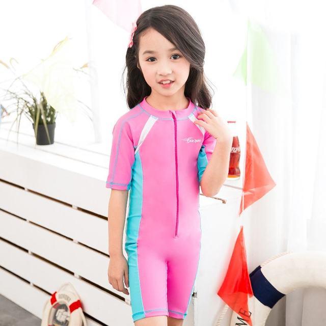 d481c6b25db70 Children's Swimsuit Girls Professional One Piece Swimwear Baby Girl Boy  Swimwear Little Girls Swimming Suit Bathing HW315