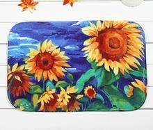 40*60cm Sunflower Series Bath Mats Anti-Slip Rugs Coral Fleece Carpet For For Bathroom Bedroom Doormat Online