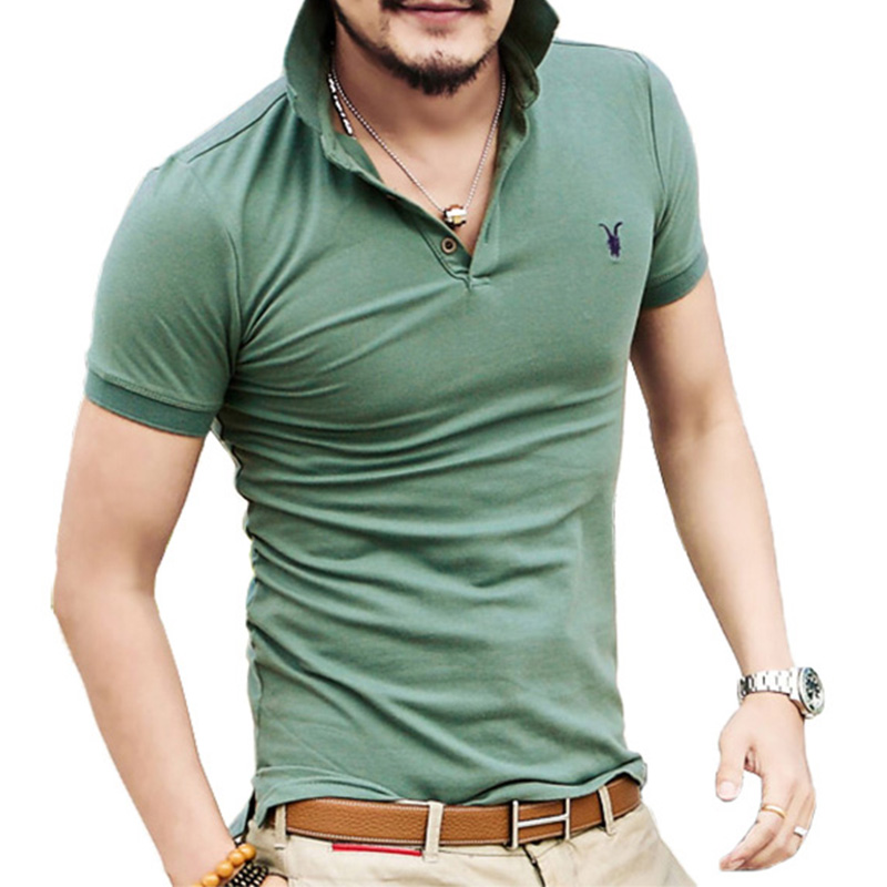 Buy all size casual polo shirt men solid for Where to buy casual dress shirts