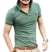 Все размеры Повседневное футболка-поло Для мужчин Однотонная рубашка поло бренды мужчины британской футболки-поло овец голова хлопок короткий рукав для мужчин