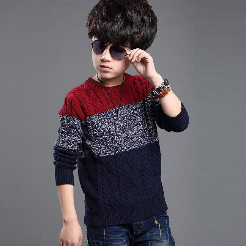 Fashion Boys Sweater 2018 Winter Autumn Infant Boy Outwear Sweater Cotton Kids Clothes Children Outerwear Knitwear Sweater 10 12 back to school outfits boys sweater 2018 new autumn children knitwear o neck boys wool sweater kids fashion outerwear 10 12 year