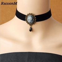 RscvonM Gothic Jewelry Vintage Lace Necklaces & Pendants Women Accessories Choker Necklace False Collar Statement Necklaces
